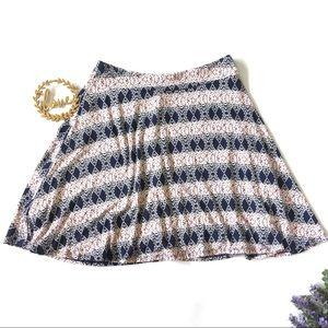 NWT Renee C Stitch Fix Jessica Printed Swing Skirt